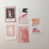 post card set(pink)
