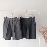 linen half pants (ネイビーM・即納)