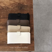 cow leather wallet(即納)