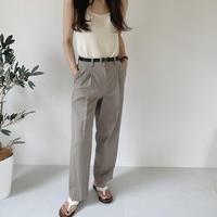 bas standard cotton pintack slacks(即納)