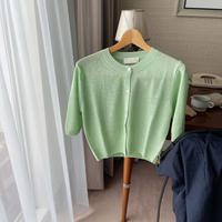 VEGETABLE classic linen cardigan(即納)