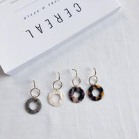 color circle combi earring