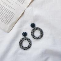 dalmatian hoop earring