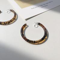 clear brown hoop earring
