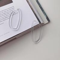clear long curve earring