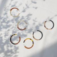 bicolor hoop earring