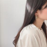 khaki drop swing earrings