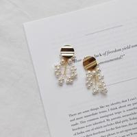 pearl scatter earring