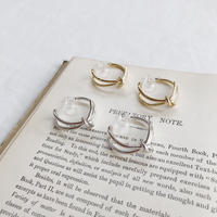 knit hoop earring