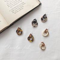 marble three hoop earring