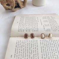 antique color square earring