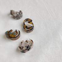 marble bold hoop earring
