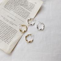 metal twist earring