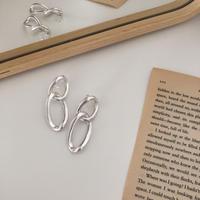 matte metal swing hoop earring