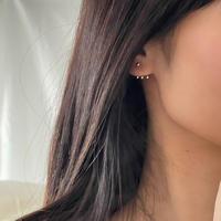 three point earrings(silver925)