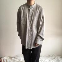 1990's~ Yves Saint Laurent bigsize L/S band collor shirt