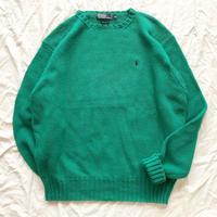 1980's~ 1990's Polo Ralph Lauren  ポロラルフローレン ポニーワンポイント刺繍 コットンセーター / 古着 ビンテージ ニット