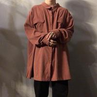 ビッグサイズ ピンク スエード調 シャツ / 古着 ビンテージ