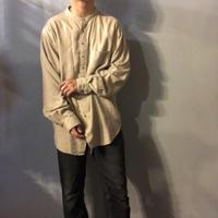 1980's~1990's  リネンコットン バンドカラーシャツ / 古着 ビンテージ
