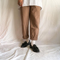 1990's~ pink beige cotton easy pants made in switzerland