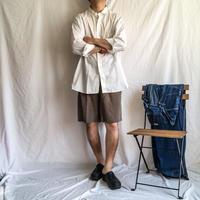 "1950's~ ""ARROW"" white cotton L/S shirt with gusset"