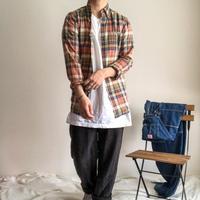 "Ralph Lauren ""RUGBY"" mudras check pattern BD L/S shirt"