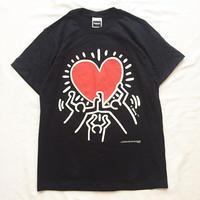 1990's~ Keith Herring キースへリング ハートプリント 半袖Tシャツ / 古着 ビンテージ