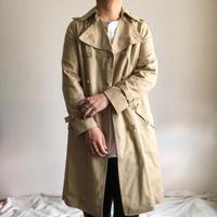 Vintage 1970s~ light beige trench coat