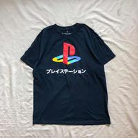 """PlayStation"" navy print S/S tee"