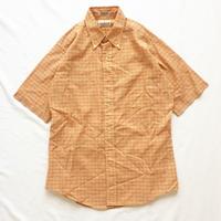 Vintage USA製 1960's~ ボタンダウン チェック柄 半袖シャツ / 古着 ビンテージ