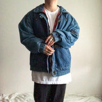1980's~1990's design denim jacket with flannel liner