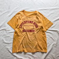"Vintage 1950's~ ""CHAMPION"" runners tag fade yellow  S/S tee"