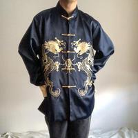 1990's~ bigsize dragon embroidery china jacket