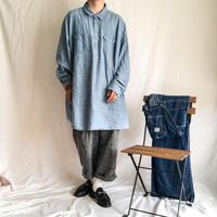 bigsize pullover chambray L/S shirt