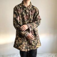 1990's~ bigsize flower pattern tapestry jacket