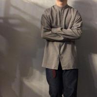 Pierre Cardin ピエールカルダン ストライプ刺繍 バンドカラーシャツ / 古着 ビンテージ