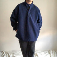 """2000's~ """"Fruit of the room"""" bigsize navy snap fleece jacket"""
