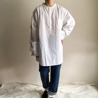1990's~ indian cotton band collor pullover L/S shirt