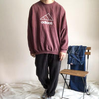 """1990's bootleg """"adidas"""" embroidery  heavy weight cotton sweat made in USA"""