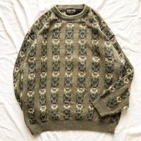 イタリア製 コットン 総柄セーター / 古着 ビンテージ