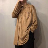 1970's style  スエード調 ビッグサイズ ウエスタンシャツ / 古着 ビンテージ