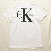 デッドストック! 1990's~ Calvin Klein カルバンクライン 両面ロゴプリント 半袖Tシャツ / 古着 ビンテージ CK