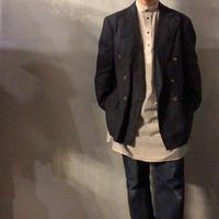 1980's~ USA製 Polo Ralph Lauren ピークドラペル ダブルブレスト リネン テーラードジャケット / 古着 ビンテージ