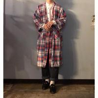 1980's~ コットン チェック柄 ガウン / 古着 ビンテージ