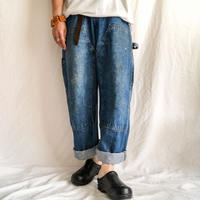 "Vintage ~1980's ""KEY"" super bigsize double knee denim painter pants made in USA"