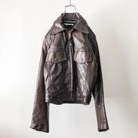 Vintage 1970's~ AMF Harley Davidson brown leather jacket