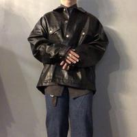 1990's~ ビッグサイズ 4th type フェイクレザー ジャケット / 古着 ビンテージ