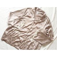 レース切り替え オープンカラー パジャマシャツ/古着 ビンテージ