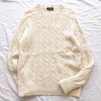 BROOKS BROTHERS ブルックスブラザーズ シェットランドウール ケーブル編みセーター / 古着 ビンテージ ニット