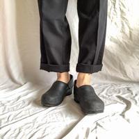 dansko dark navy leather sabot